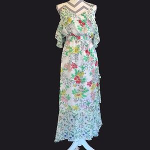 NWT Nanette Lapore Floral Ruffled Day Dress